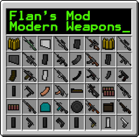 Flan's Modern Weapons Pack Mod